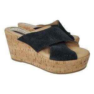 Cordani Jan Chunky Platform Slip-On Sandals Cork